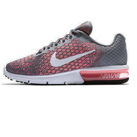 Nike Air Max Sequent 2 Hot Pink Womens Trainers Shoes Size 4 - 6 UK Pink Sneaker