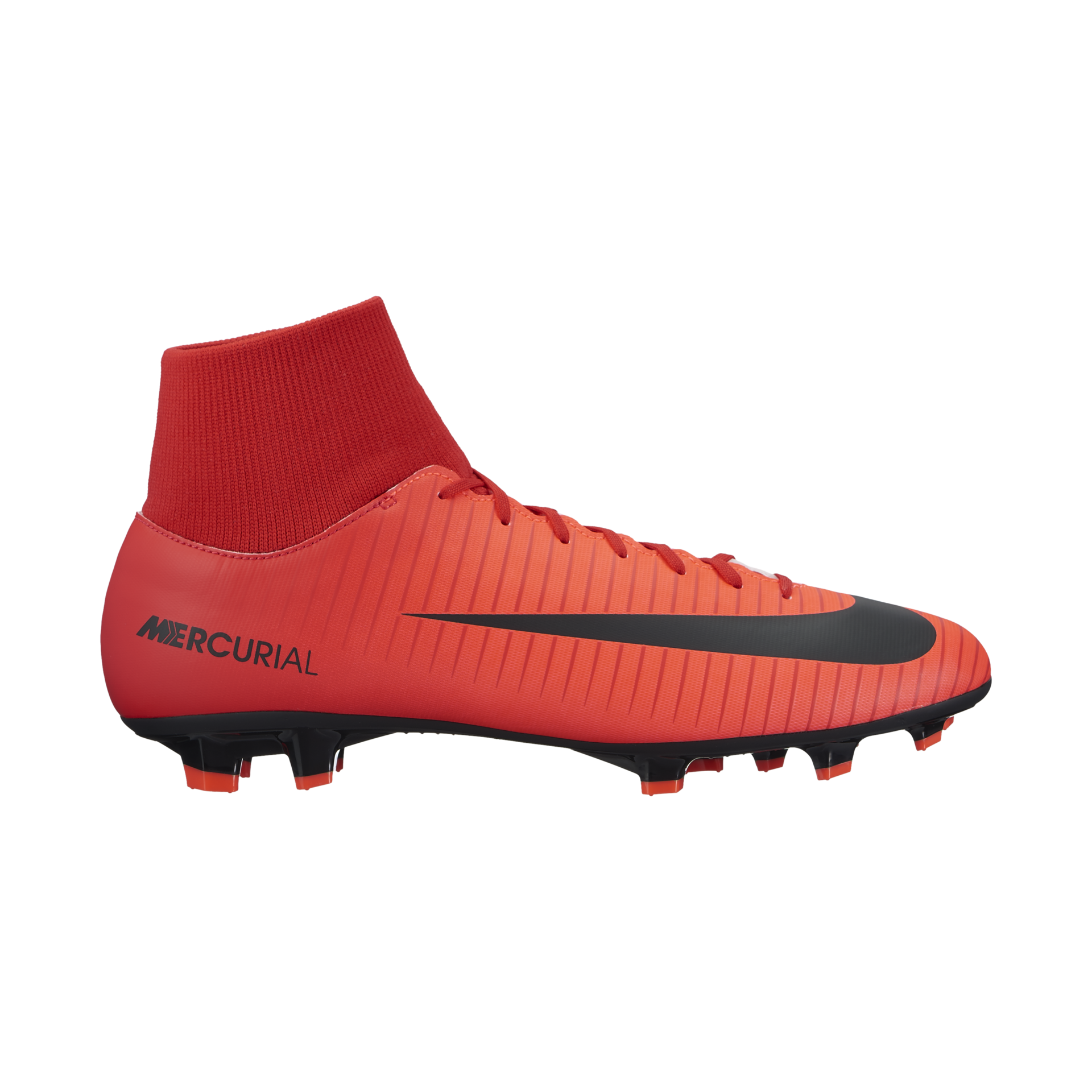 Nike Mercurial Victory VI Dynamic Fit Soft-Ground Men's Football Boots Red/Black hE4989Z