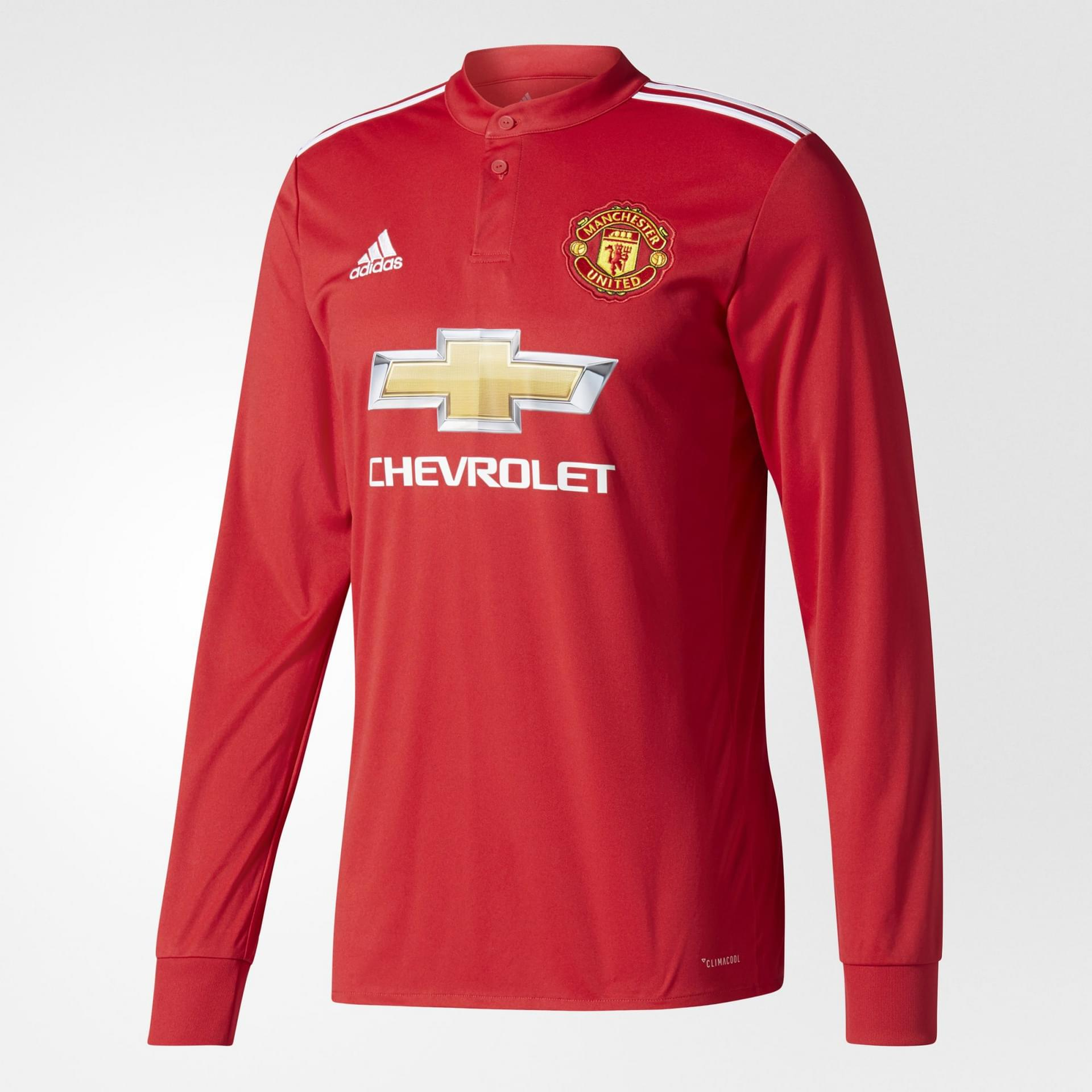 buy online e3b42 beb90 ADIDAS MANCHESTER UNITED FC HOME LONG SLEEVE JERSEY MENS ...