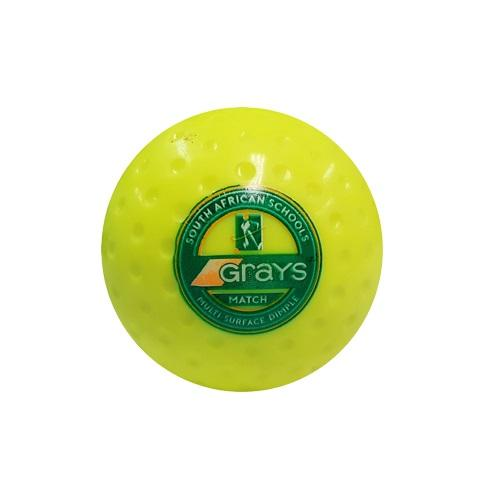 Yellow Grays Hockey Match Ball