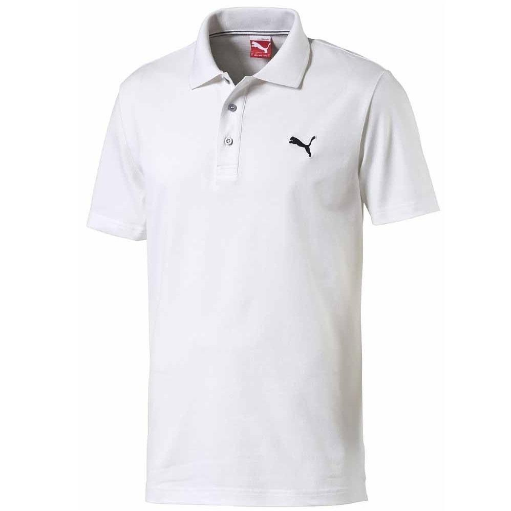 White New Men/'s Puma Essentials Polo Shirt T-Shirt Top