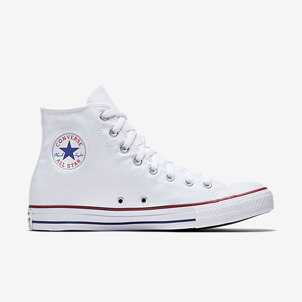 Converse Chuck Taylor High Leather Mens White Poobie Naidoos